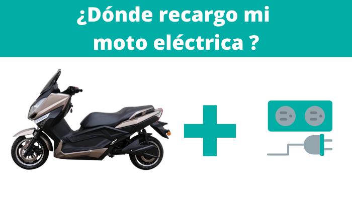 ¿Dónde recargo mi moto eléctrica?