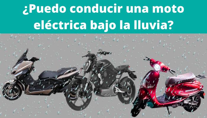 ¿Puedo conducir una moto eléctrica bajo la lluvia?